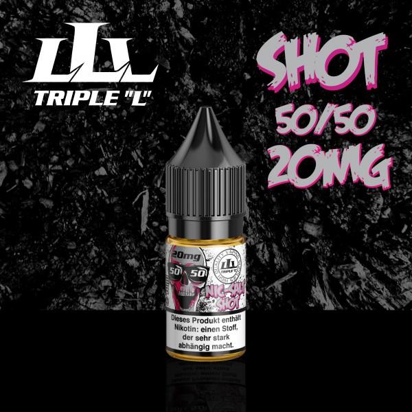 Triple L - Nikotinsalzshot - 10ml - 20mg, 50/50, 70/30