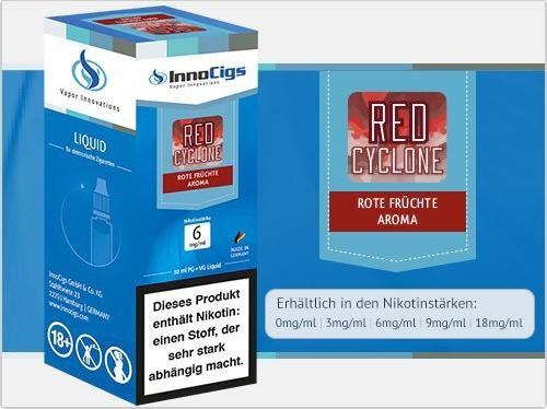 InnoCigs E-Liquids - 10ml - red cyclone - Rote Früchte