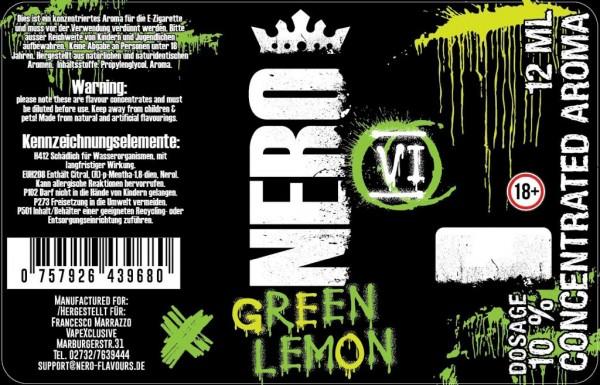 Nero Flavours - 12ml - Mix& Vape - Green Lemon