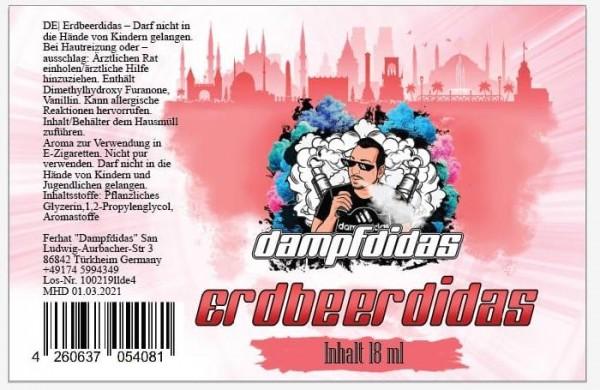 Dampfdidas - 18ml Aroma - Erdbeerdidas