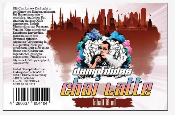 Dampfdidas - 18ml Aroma - Chai Latte