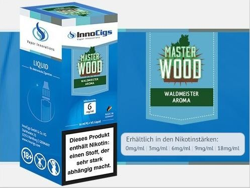 InnoCigs E-Liquids - 10ml - master wood - Waldmeister