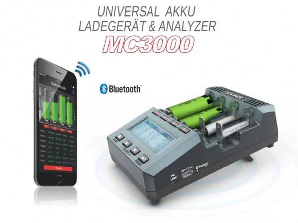 SkyRC MC3000 Professionelle Universal-Analyse-Ladegerät für alle Akku-Typen Version: 2018
