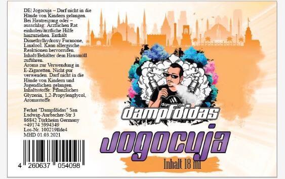 Dampfdidas - 18ml Aroma - Jogocuja