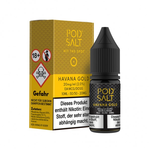 Pod - NicSalt Liquid - 10ml - 20mg - Havana Gold