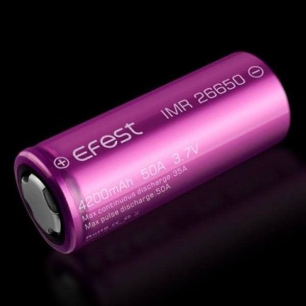 Efest Purple IMR26650 mit 4200mAh, 3,6V - 3,7V, Li-Ionen Akku (max. 45A puls)