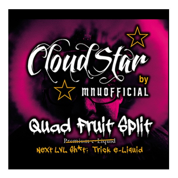 CloudStar Trick - 60ml - Quad Fruit Split