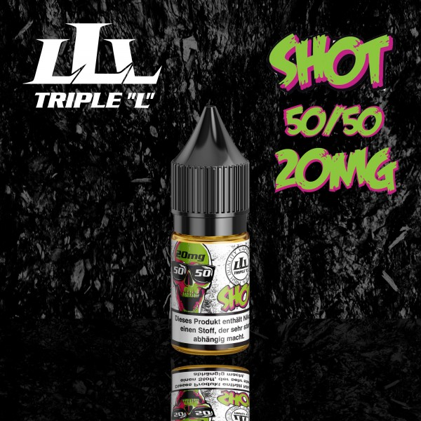 Triple L - Nikotinshot - 10ml - 20mg, 50/50, 70/30, 80/20, 99,5VG