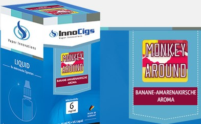 InnoCigs E-Liquids - 10ml - monkey around - Banane & Amarenakirsch