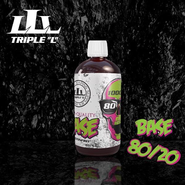 Triple L - Base - 80/20 Premium Base - 1000ml 0mg